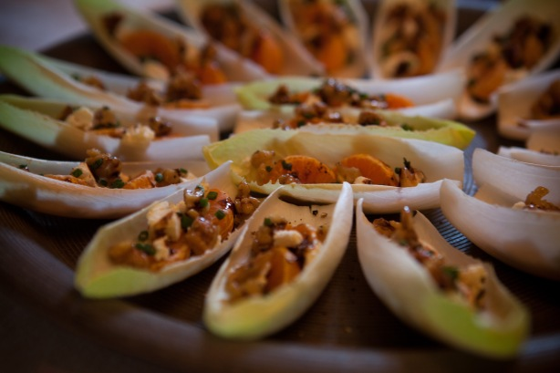 endives with candied walnuts and mandarin oranges
