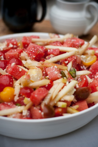 tomato watermelon harvest salad